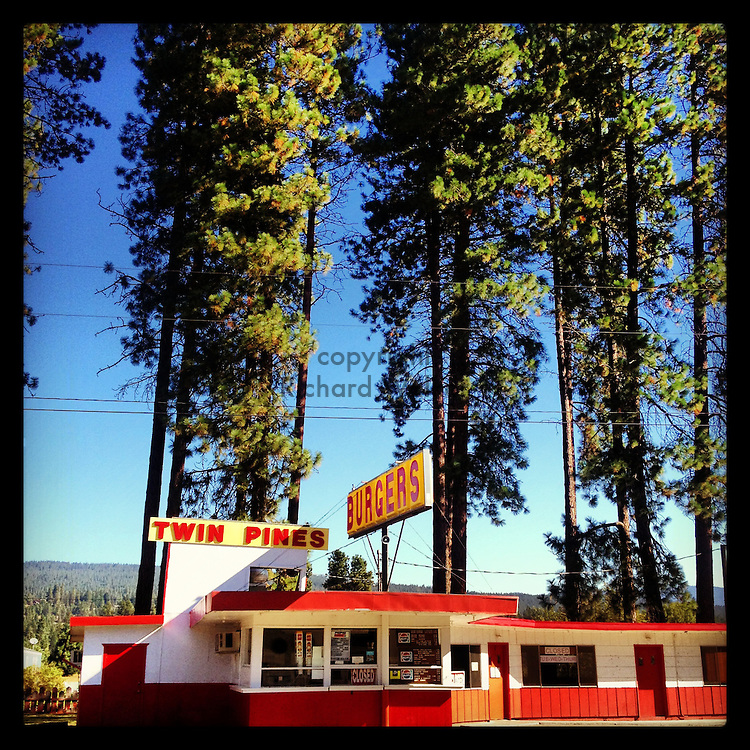2013 September 11 - Twin Pines Burgers stand , WA, USA. Taken/edited with Instagram App for iPhone. By Richard Walker