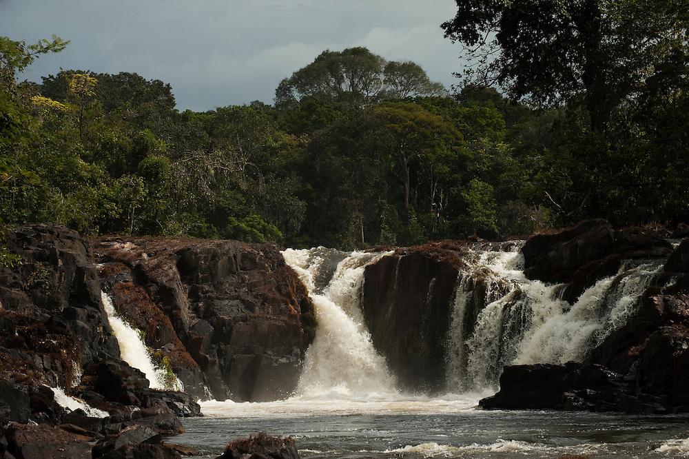Bamboo Falls<br /> Rewa River<br /> Rainforest<br /> GUYANA. South America