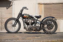 "Koji ""Hammer"" Hamada'sHammer Sycle /Hardly-Driveable custom 1941 Harley-Davidson Knucklehead near his shop inTsuchiura City, Ibaraki Prefecture, Japan. Thursday December 7, 2017. Photography ©2017 Michael Lichter."