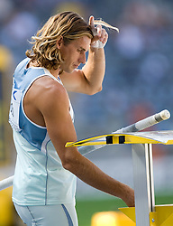 Jure Rovan of Slovenia competes in the men's pole vault qualifying event  during day six of the 12th IAAF World Athletics Championships at the Olympic Stadium on August 20, 2009 in Berlin, Germany. (Photo by Vid Ponikvar / Sportida)
