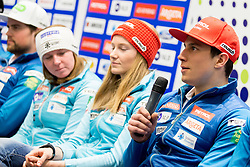 Zan Kranjec at press conference of Slovenian Alpine Ski Team before World Cup in St. Moritz, on January 31 2017, in Ljubljana, Slovenia. Photo by Urban Urbanc / Sportida