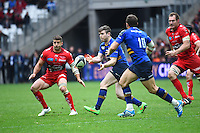 Ian Madigan / Sebastien Tillous Borde - 19.04.2015 - Toulon / Leinster - 1/2Finale European Champions Cup -Marseille<br /> Photo : Andre Delon / Icon Sport