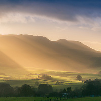 Winter light over the Campsie Fells