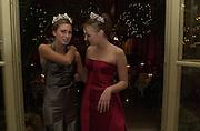 Lauren Bush and Tamara Ecclestone. Crillon Haute Couture Ball. Crillon Hotel, Paris. 2 December 2000. © Copyright Photograph by Dafydd Jones 66 Stockwell Park Rd. London SW9 0DA Tel 020 7733 0108 www.dafjones.com