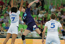 during handball match between National teams of Slovenia and France of 2011 Women's World Championship Play-off, on June 12, 2011 in Arena Stozice, Ljubljana, Slovenia. (Photo By Urban Urbanc / Sportida.com)