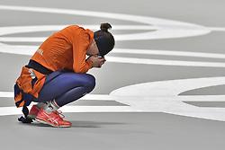 12-02-2018 ALGEMEEN: MEDAL PLAZA OLYMPISCHE SPELEN: OLYMPIC GAMES: PEYONGCHANG 2018<br /> Ireen Wust (JustLease.nl) in spanning tijdens de laatste rit<br /> Foto: Sander Chamid
