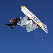 Scotty James, Australia, in action during the Men's Halfpipe competition at the Burton New Zealand Open 2011 held at Cardrona Alpine Resort, Wanaka, New Zealand, 10th August 2011. Photo Tim Clayton