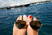 Sunday August 17th 2008. .Cannes Bay, Iles de Lerins (Cote d'Azur), France..On a boat..