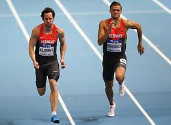 07.03.2014, Ergo Arena, Sopot, POL, IAAF, Leichtathletik Indoor WM, Sopot 2014, Tag 1, im Bild Kai Kazimirek, Pascal Behrenbruch (GER) // Kai Kazimirek, Pascal Behrenbruch (GER) during day one of IAAF World Indoor Championships Sopot 2014 at the Ergo Arena in Sopot, Poland on 2014/03/07. EXPA Pictures © 2014, PhotoCredit: EXPA/ Newspix/ Tomasz Jastrzebowski<br /> <br /> *****ATTENTION - for AUT, SLO, CRO, SRB, BIH, MAZ, TUR, SUI, SWE only*****