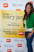 """Dallas television personality Shon Gables poses for a portrait before a screening of BET's """"Being Mary Jane"""" at the W Hotel in Dallas, Texas on June 22, 2013."""