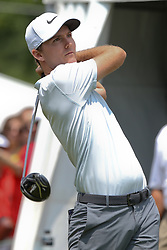 June 24, 2018 - Cromwell, Connecticut, United States - Russell Henley tees off the first hole during the final round of the Travelers Championship at TPC River Highlands. (Credit Image: © Debby Wong via ZUMA Wire)