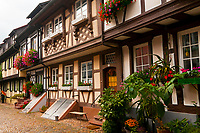 A small street called Engelgasse in the medieval town of Gengenbach, Baden-Württemberg, Germany