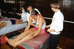 Deborah Hledik, Post-Race Massage For 1992 Boston Marathon