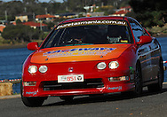 #851 - John L'Estrange & John Pinder - 2001 Honda Integra Tyre R.Prologue.George Town.Targa Tasmania 2010.27th of April 2010.(C) Joel Strickland Photographics.Use information: This image is intended for Editorial use only (e.g. news or commentary, print or electronic). Any commercial or promotional use requires additional clearance.