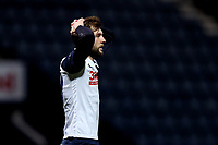Tom Barkhuizen of Preston North End shows a look of dejection<br /> <br /> Photographer Paul Greenwood/CameraSport<br /> <br /> The EFL Sky Bet Championship - Preston North End v Nottingham Forest - Saturday 2nd January 2021 - Deepdale - Preston<br /> <br /> World Copyright © 2020 CameraSport. All rights reserved. 43 Linden Ave. Countesthorpe. Leicester. England. LE8 5PG - Tel: +44 (0) 116 277 4147 - admin@camerasport.com - www.camerasport.com