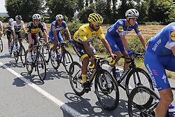 July 8, 2018 - La Roche-Sur-Yon, France - TERPSTRA Niki (NED) of Quick - Step Floors, GAVIRIA RENDON Fernando (COL) of Quick - Step Floors, LAMPAERT Yves (BEL) of Quick - Step Floors and GILBERT Philippe (BEL) of Quick - Step Floors during stage 2 of the 105th edition of the 2018 Tour de France cycling race, a stage of 182.5 kms between Mouilleron - Saint-Germain and La Roche-Sur-Yon on July 08, 2018 in La Roche-Sur-Yon, France, 8/07/18 (Credit Image: © Panoramic via ZUMA Press)