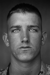 Lcpl. Stephen Parker, 20, Athens, Texas, 1st Platoon, Kilo Co., 3rd Battalion 1st Marines, 1st Marine Division, United States Marine Corps, at the company's firm base in Haditha, Iraq on Sunday Oct. 22, 2005.