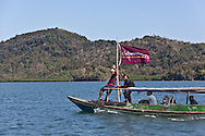INDONESIA, Flores Archipelago, Manggarai country;, traditional ship in the mangroves