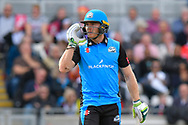 Ben Cox of Worcestershire during the Vitality T20 Finals Day Semi Final 2018 match between Worcestershire Rapids and Lancashire Lightning at Edgbaston, Birmingham, United Kingdom on 15 September 2018.