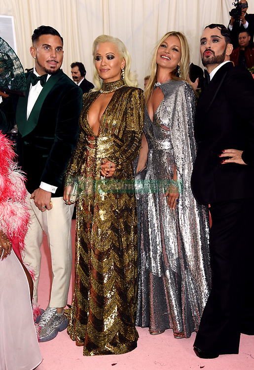 Rita Ora and Kate Moss attending the Metropolitan Museum of Art Costume Institute Benefit Gala 2019 in New York, USA.