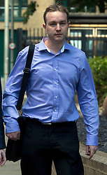 © Licensed to London News Pictures. 28/05/2015. <br /> LONDON, UK. Former UBS and Citigroup trader Tom Hayes arrives at Southwark Crown Court in London. Hayes appears charged with eight counts of conspiracy to defraud in relation to alleged manipulation and rigging of the Libor rate London, Thursday 28 May 2015. Photo credit : Hannah McKay/LNP