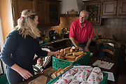 December 6, 2016 - Breil-sur-Roya, France: Jean-Pierre, a 70-year-old retired police officer, and an activist, prepare meals to distribute to migrants in Ventimiglia, Italy. Jean-Pierre and his wife Gisele, members of a network that helps migrants, distribute 120 meals weekly.<br /> <br /> 6 décembre 2016 - Breil-sur-Roya, France: Jean-Pierre, 70 ans, officier de police à la retraite et militant, prépare des repas pour  les distribuer aux migrants à Vintimille, en Italie. Jean-Pierre et sa femme Gisele, membres d'un réseau d'aide aux migrants, distribuent 120 repas par semaine.