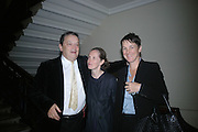 Norman Rosenthall, Pauline Daly and Sadie Coles, Georg Baselitz, Royal Academy. 18 September 2007. -DO NOT ARCHIVE-© Copyright Photograph by Dafydd Jones. 248 Clapham Rd. London SW9 0PZ. Tel 0207 820 0771. www.dafjones.com.