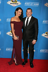 Tony Stewart, Penelope Jiminez attending the 2016 NASCAR Sprint Cup Series Awards
