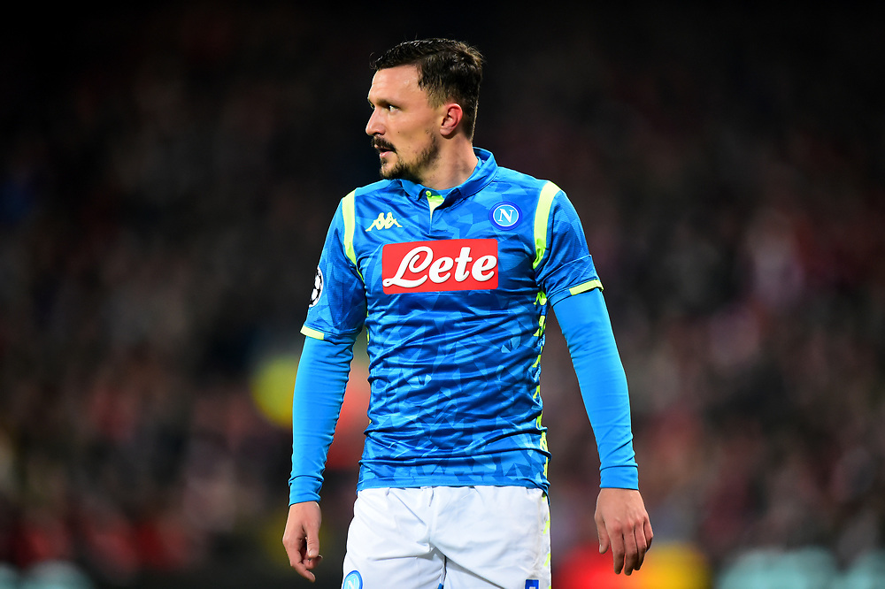 Napoli's Mario Rui looks on<br /> <br /> Photographer Richard Martin-Roberts/CameraSport<br /> <br /> UEFA Champions League Group C - Liverpool v Napoli - Tuesday 11th December 2018 - Anfield - Liverpool<br />  <br /> World Copyright © 2018 CameraSport. All rights reserved. 43 Linden Ave. Countesthorpe. Leicester. England. LE8 5PG - Tel: +44 (0) 116 277 4147 - admin@camerasport.com - www.camerasport.com
