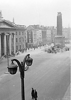 The remains of Nelson's Pillar after the explosion that took place on March 8, 1966 in Dublin city centre. (Part of the Independent Newspapers/NLI Collection)