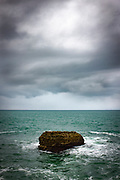 Rock in the Atlantic Ocean, Biarritz, France