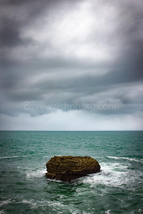 Rock in the Atlantic Ocean, Biarritz, France