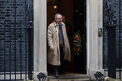 © Licensed to London News Pictures. 17/12/2019. London, UK. Attorney General Geoffrey Cox leaving Downing Street after attending a Cabinet meeting this morning. Photo credit : Tom Nicholson/LNP