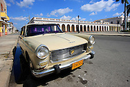 Old French car in Cienfuegos, Cuba.