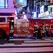 Firefighters on Time Square