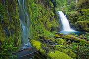 Sevenmile Falls, the uppermost major waterfall along Eagle Creek, Columbia River Gorge National Scenic Area, Oregon.
