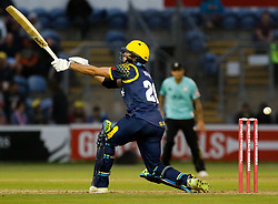 Glamorgan's Ruaidhri Smith misses the ball<br /> <br /> Photographer Simon King/Replay Images<br /> <br /> Vitality Blast T20 - Round 14 - Glamorgan v Surrey - Friday 17th August 2018 - Sophia Gardens - Cardiff<br /> <br /> World Copyright © Replay Images . All rights reserved. info@replayimages.co.uk - http://replayimages.co.uk