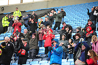 Fleetwood Town fans during the second half<br /> <br /> Photographer Andrew Vaughan/CameraSport<br /> <br /> Football - The Football League Sky Bet League One - Coventry City v Fleetwood Town - Saturday 27th February 2016 - Ricoh Stadium - Coventry   <br /> <br /> © CameraSport - 43 Linden Ave. Countesthorpe. Leicester. England. LE8 5PG - Tel: +44 (0) 116 277 4147 - admin@camerasport.com - www.camerasport.com