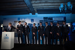 November 9, 2017 - London, England, United Kingdom - The Doubles players talk with Andrew Castle during the The Official Launch ATP Finals at Tower of London, on November 9, 2017. (Credit Image: © Alberto Pezzali/NurPhoto via ZUMA Press)