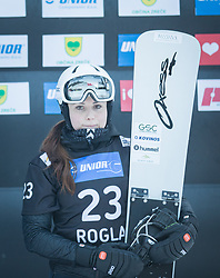 Kotnik Gloria during the FIS snowboarding world cup race in Rogla (SI / SLO) | GS on January 20, 2018, in Jasna Ski slope, Rogla, Slovenia. Photo by Urban Meglic / Sportida