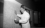 """1965 - I.C.I. """"Vymura""""  luxury wall covering demonstration at the Intercontinental Hotel"""