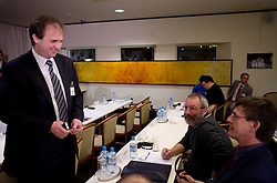 President of NZS mag. Ivan Simic, Ciril Kolesnik and Kacijan Danilo at Management conference of Slovenian Football Federation, on March 10, 2009, in Hotel Kokra, Brdo pri Kranju, Slovenia. (Photo by Vid Ponikvar / Sportida)