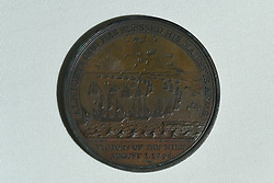 A commemorative medal from The Battle of the Nile, which is being displayed in the Nelson & Norfolk exhibition at Norwich Castle Museum & Art Gallery.