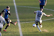 0-2, GOAL scored by Lucas Akins of Burton Albion   during the EFL Sky Bet League 1 match between Rochdale and Burton Albion at the Crown Oil Arena, Rochdale, England on 27 February 2021.