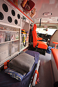 Interior of a Magen David Adom Ambulance,