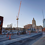 Construction site on 16th Street between Baltimore and Main of Chartwell Hospitality LLC's development of two hotels, Courtyard Marriott and Residence Inn.