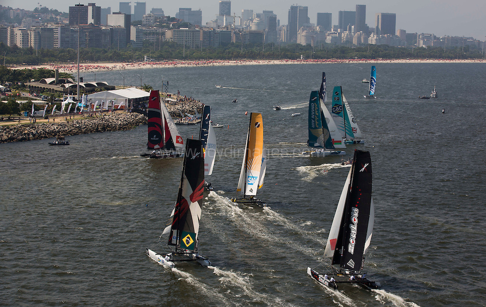 8th December, 2012. Rio de Janeiro, Brazil..Extreme Sailing Series 2012, Act 8..Credit: Lloyd Images.