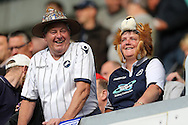 Millwall fans in fancy dress look on before k/o. Skybet football league one play off semi final 2nd leg match, Millwall v Bradford city at The New Den in London on Friday 20th May 2016.<br /> pic by John Patrick Fletcher, Andrew Orchard sports photography.