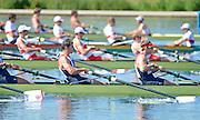 Eton Dorney, Windsor, Great Britain,..2012 London Olympic Regatta, Dorney Lake. Eton Rowing Centre, Berkshire[ Rowing]...Description;  GBR M8+, BOW. Ales PARTRIDGE, James FOAD, ? RANSLEY, Rick EGINGTON, Mo SBIHI, Greg SEARLE, Matt LANGRIDE, Constantine LOULOUDIS and Cox Phelan HILL .move away from the start in their heat of the men' eights.  Dorney Lake. 12:20:02  Saturday  28/07/2012. [Mandatory Credit: Peter Spurrier/Intersport Images]. July/Aug