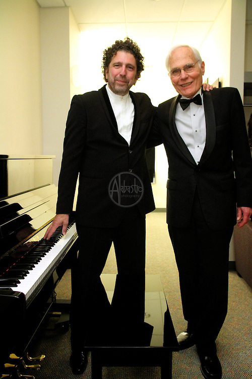 Seattle Opera Turandot Opening Night, 2012.  Asher Fisch (Conductor) and Speight Jenkins (General Director).